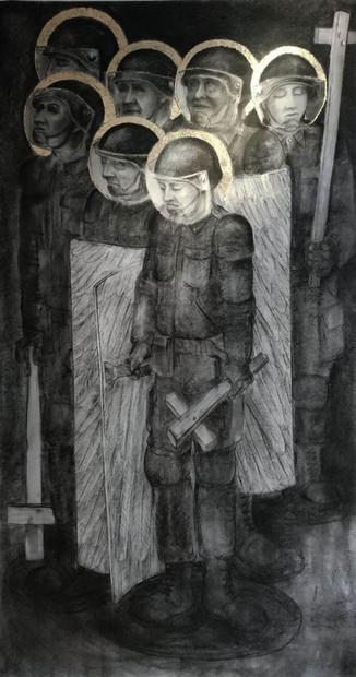 No 12. Riot Angels. Naivety Drawings. Pete Codling. 2017