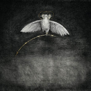No 5. Pigeon of Peace. Naivety Drawings. Pete Codling. 2017