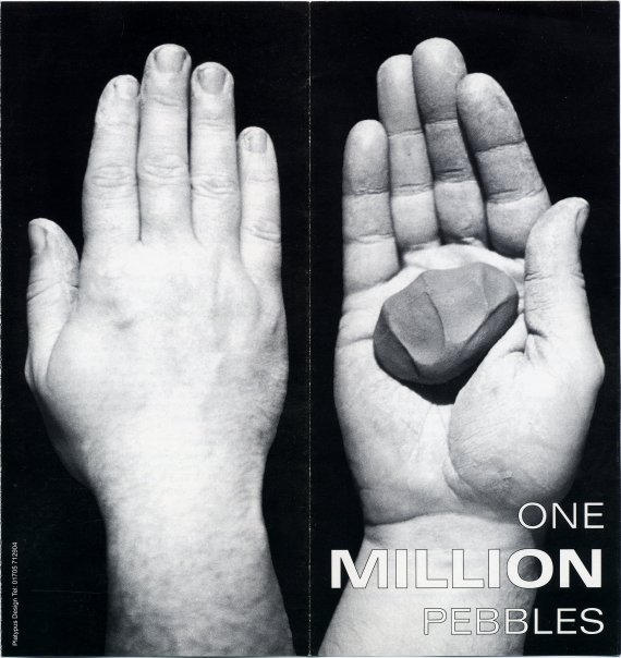 One Million Pebble flyer explaining the artwork and how to get involved.
