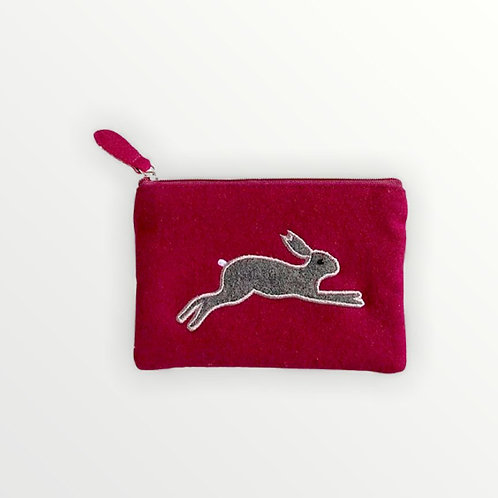 Felt Leaping Hare Purse