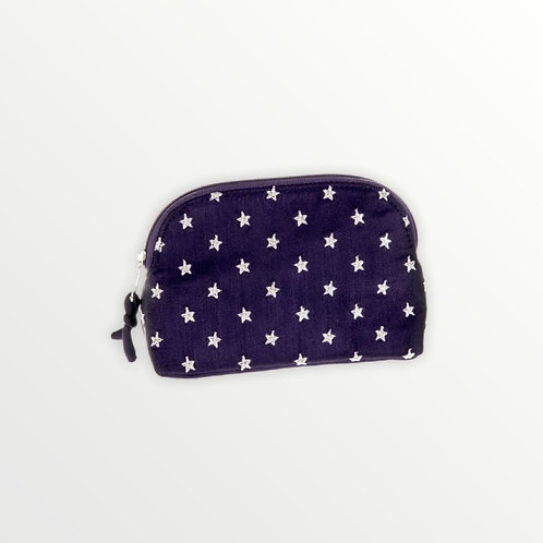 Embroidered Star Cosmetic Bag