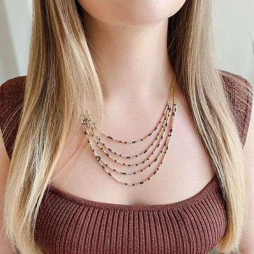 Cascading Metallics Necklace