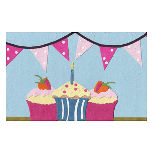 Strawberry Cupcakes | Greetings Card