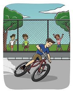 Brilliant Bob Riding Bike