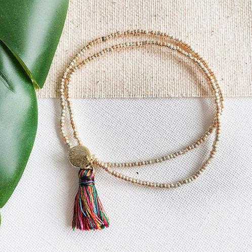 Gold Coast Tassel Bracelet | Multi
