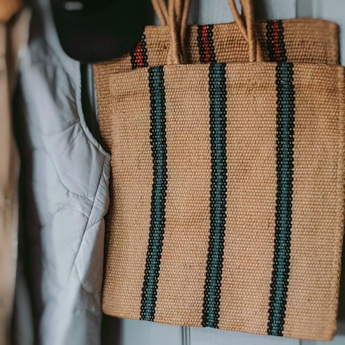 Stripy Jute Bag