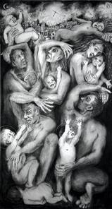 No 13. Massacre of The Innocence. Naivety Drawings. Pete Codling. 2017