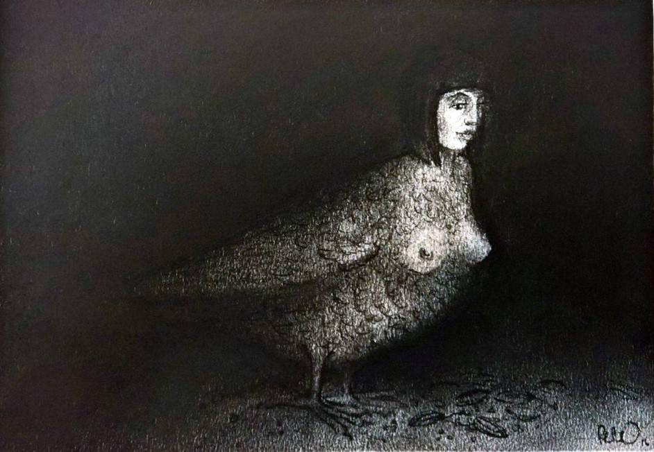 Visitor | 30 x 21cm | Charcoal on Fabriano paper