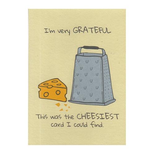 Cheesy Thanks | Greetings Card