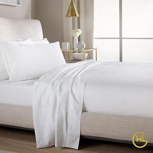 Bamboo Cotton 500TC Flat Sheet White