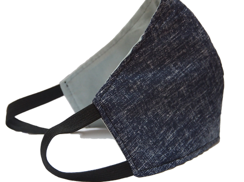 Faux Denim 3 Layer Reusable Face Mask (with Filter)