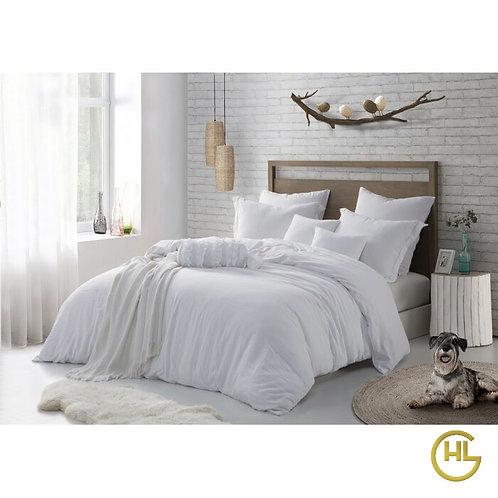 Pure Cotton Percale 300TC Duvet Cover Set White