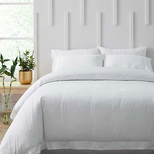 Bamboo Cotton 500TC Duvet Cover White