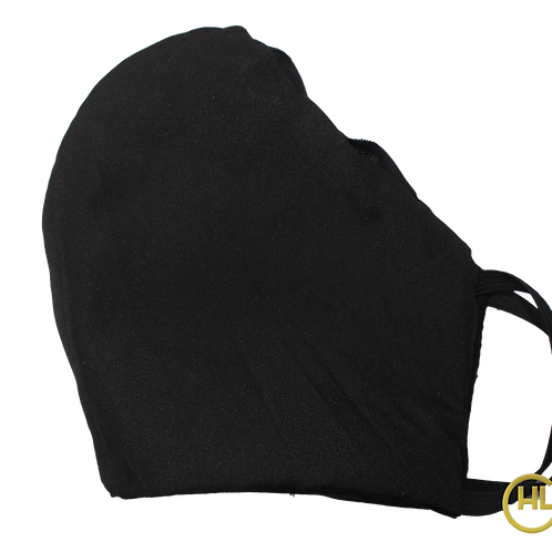 3 Layer Reusable Face Mask Black (with Filter)