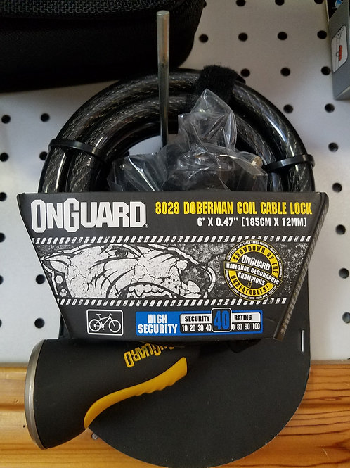 Bicycle lock onguard 8028 Doberman coil cable lock