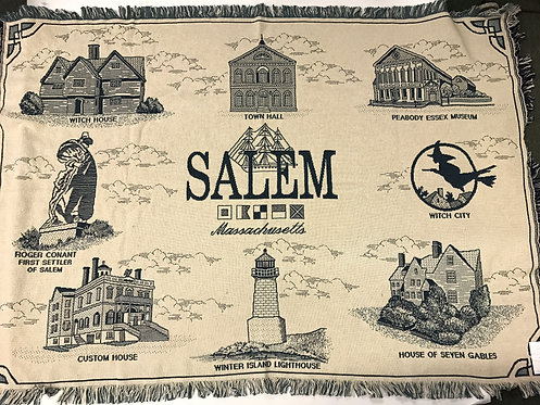 SALEM MA ICON BLANKET/THROW