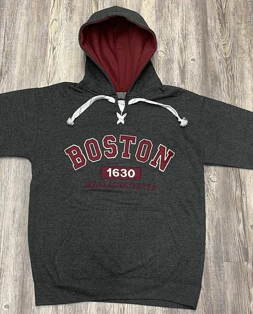 BOSTON 1630 APPLIQUE HOCKEY HOOD
