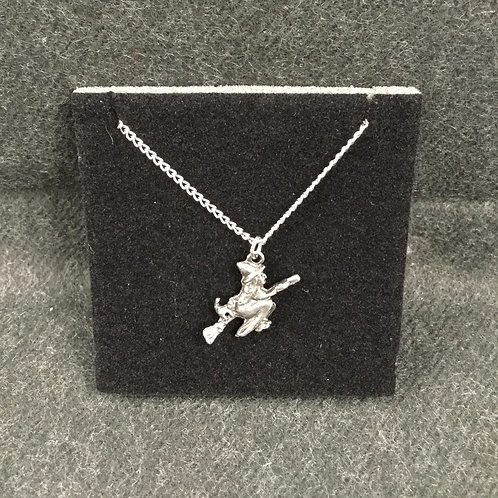 PEWTER WITCH NECKLACE