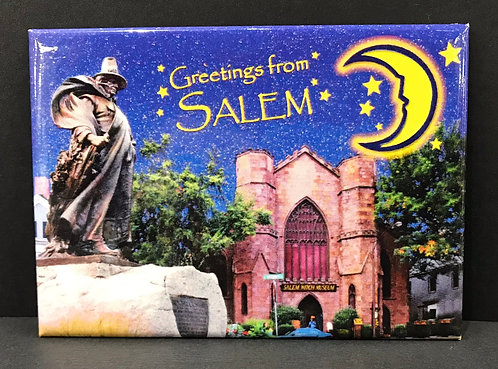 GREETINGS FROM SALEM WITCH MUSEUM MAGNET