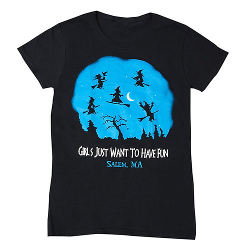GIRLS JUST WANT TO HAVE FUN T SHIRT