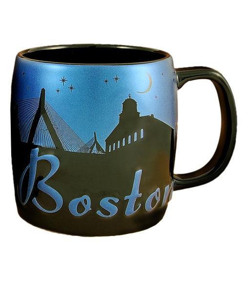 BOSTON @ NIGHT CERAMIC MUG