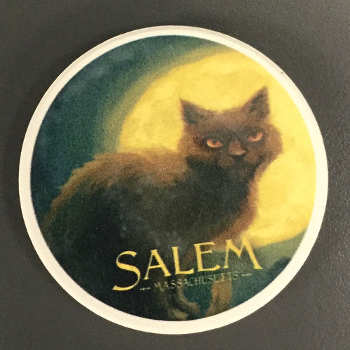 BLACK CAT CERAMIC CAR COASTER