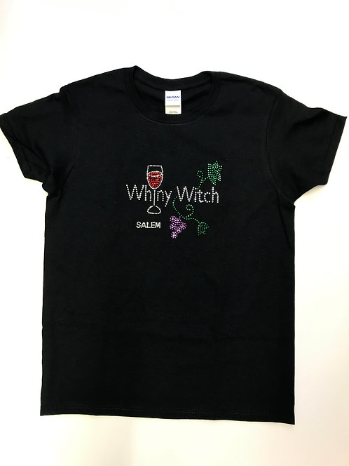 WHINY WITCH GLITTER  T SHIRT