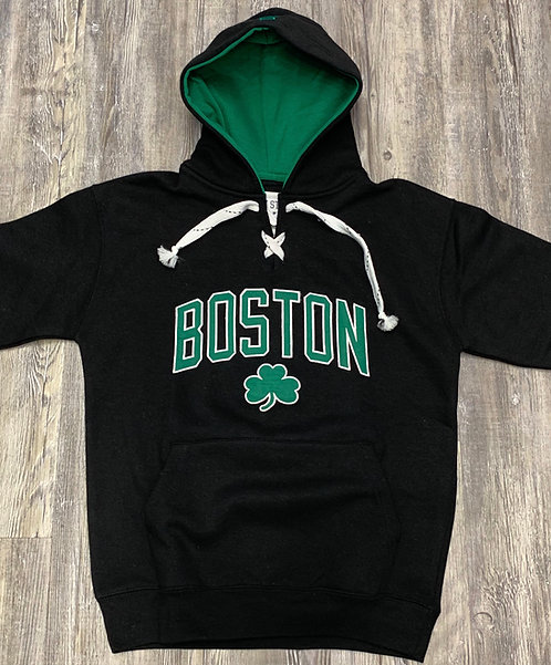 BOSTON SHAMROCK APPLIQUE HOCKEY HOOD