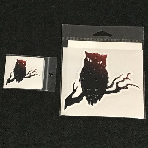SPOOKY OWL VINYL STICKER