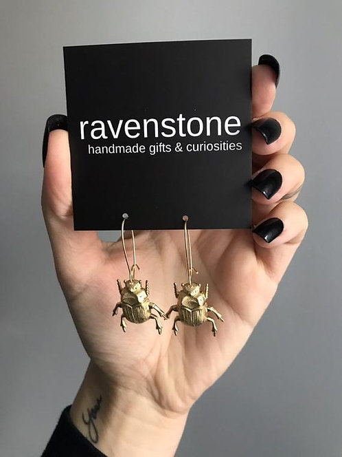 BEETLE BEBE EARRINGS BY RAVENSTONE