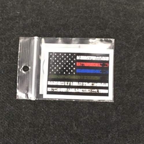 DISTRESSED FLAG VINYL STICKER