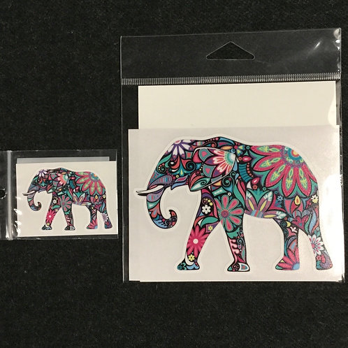 FLORAL ELEPHANT VINYL STICKER