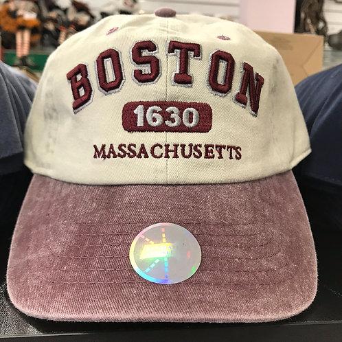 BOSTON 1630 MASS BASEBALL HAT