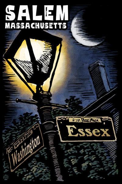 SALEM STREET SIGN/LAMP  MAGNET