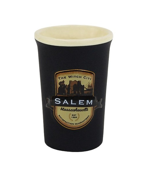 SALEM WITCH CITY EMBLEM SHOT GLASS