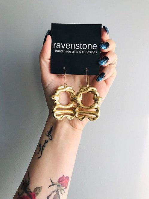 SERPENT EARRINGS BY RAVENSTONE