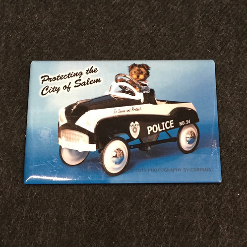 PUPPY POLICE MAGNET