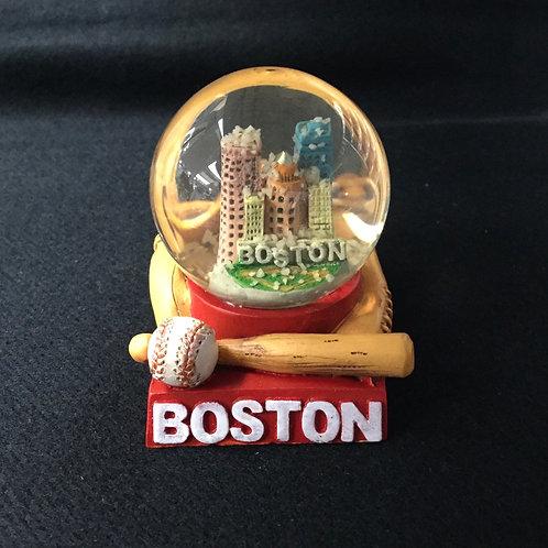 MINI BOSTON BASEBALL SNOWGLOBE