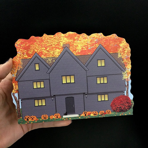 THE WITCH HOUSE IN AUTUMN - CAT'S MEOW VILLAGE