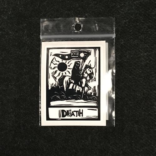 DEATH CARD VINYL STICKER