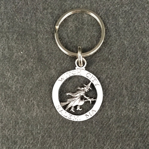 PEWTER WITCH CITY KEYCHAIN