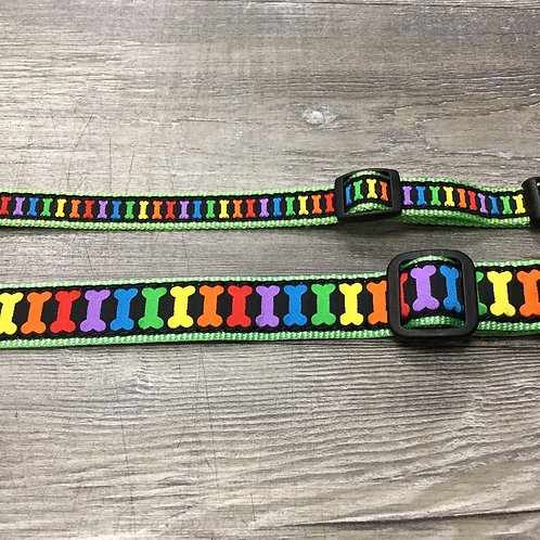 RAINBOW BONES PET COLLAR