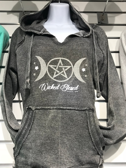 WICKED BLESSED V NECK ENZYME SWEATSHIRT