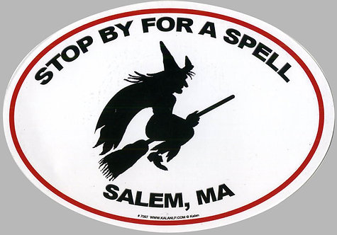 STOP BY FOR A SPELL SALEM, MA MAGNET