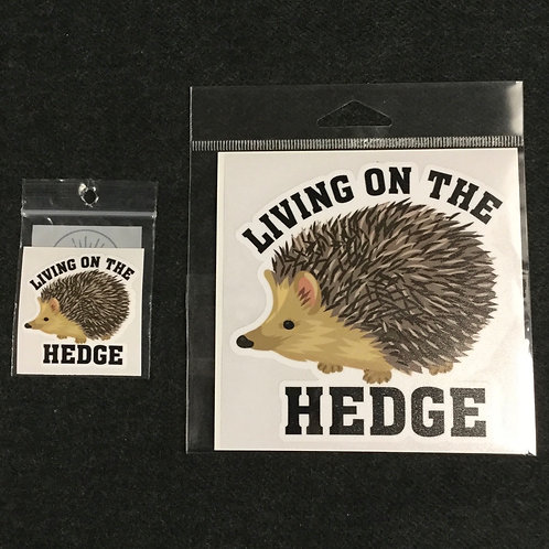 LIVING IN HEDGE VINYL STICKER