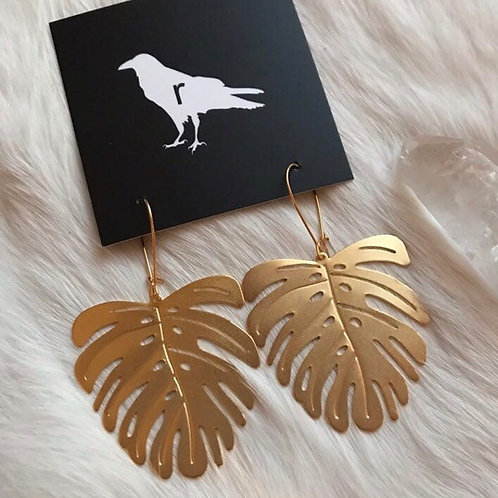 PALM LEAF EARRINGS BY RAVENSTONE