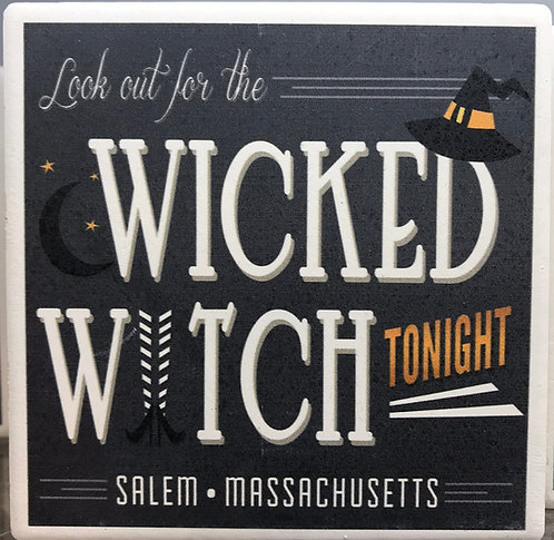 WICKED WITCH CERAMIC COASTER