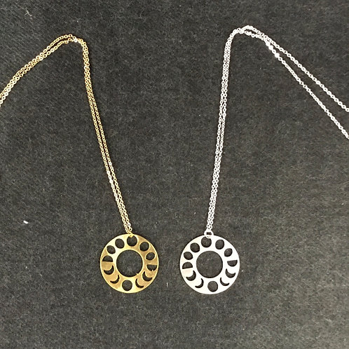 MOON PHASE NECKLACE BY RAVENSTONE
