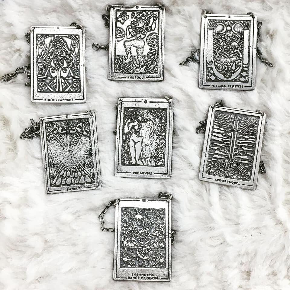TAROT CARD PENDANT BY ACID QUEEN   Coon's Card & Gift