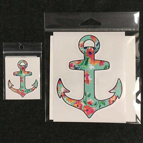 FLORAL ANCHOR VINYL STICKER